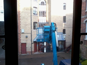 Blue Cherry Picker