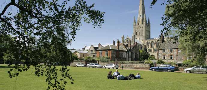 The largest cathedral close in England and a great place for a picnic on a hot summer's day