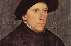 The first blank verse to be published was written by Henry Howard, Earl of Surrey (eldest son to the Duke of Norfolk). Also, Harry and his mate Sir Tommy Wyatt were the first English poets to write in the sonnet form that Shakespeare later used. Harry didn't make it to duke as the other Harry (that randy despot Henry VIII) had him beheaded for treason.