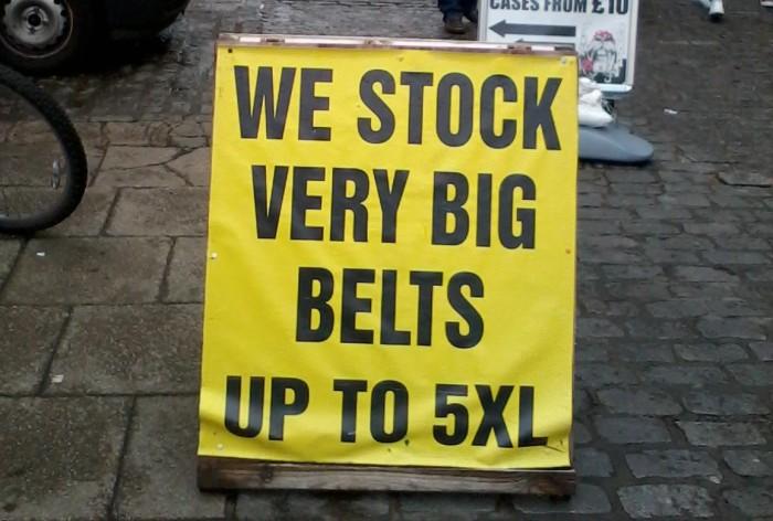 Big Belts in Norwich Market