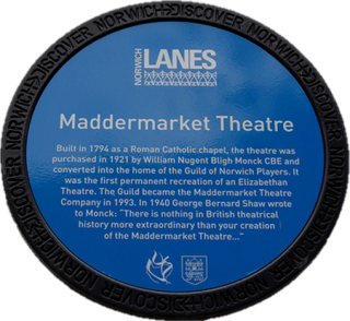 Maddermarket Theatre Blue Plaque