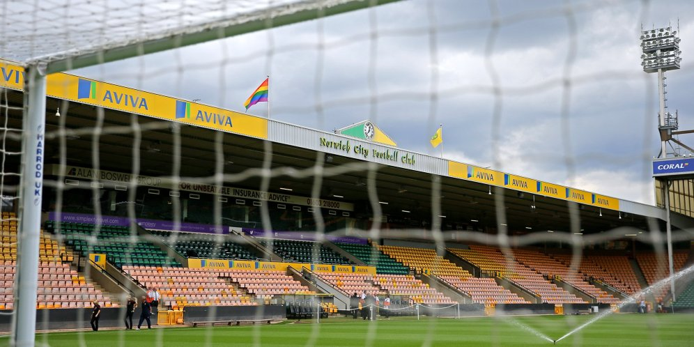 Rainbow Flag at Norwich FC