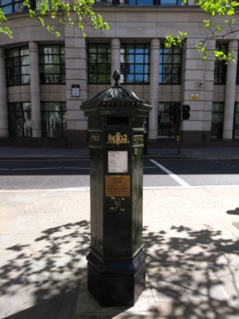green-post-box